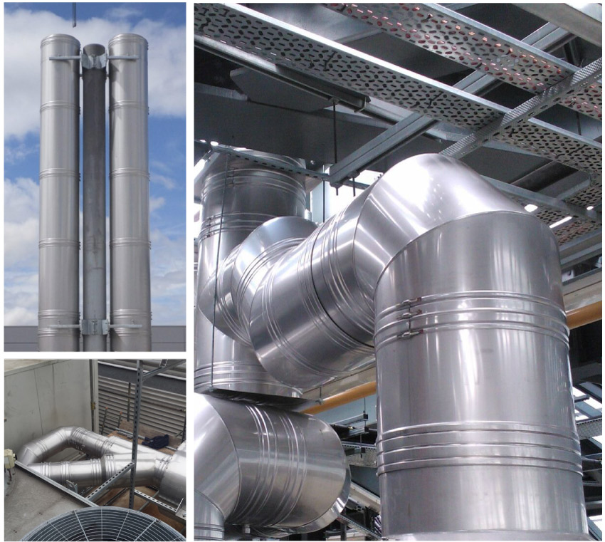 Commercial Flue and chimney design, supply, installation image
